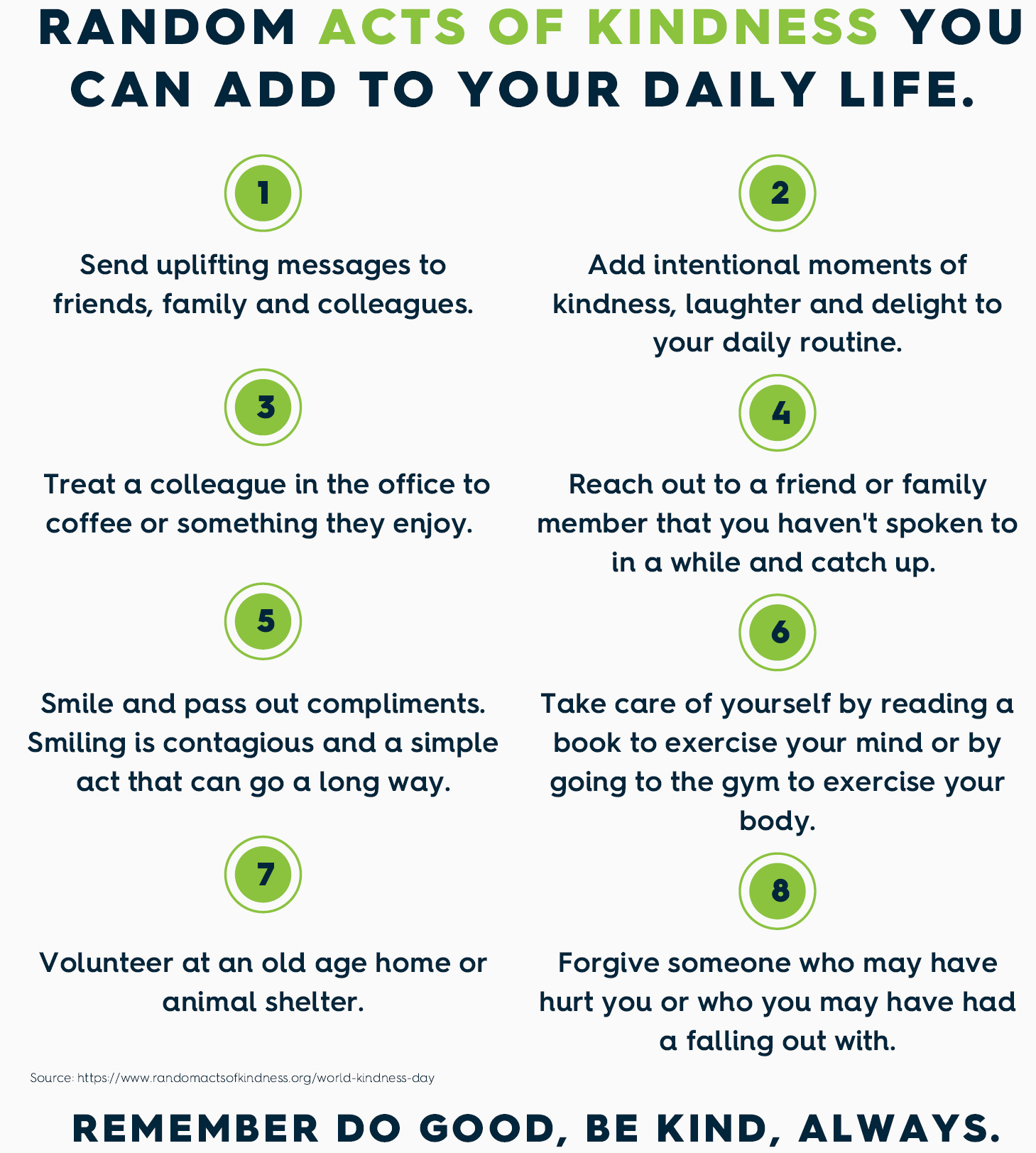 Random Acts of Kindness Infographic